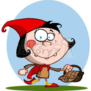 clipart RF Royalty-Free Illustration Cartoon funny character little red riding hood picnic