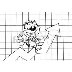 Happy Tiger Riding Success clipart. Royalty-free image # 378581