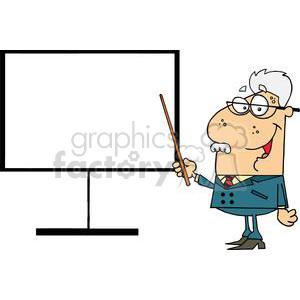 vector cartoon funny teacher school education