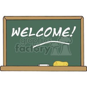 School Chalk Board With Text Welcome! clipart. Royalty-free image # 379033