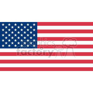 The American Flag On a White Background