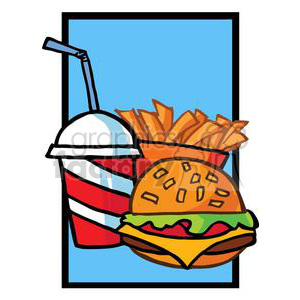 Hamburger French Fries And Drink Meal clipart. Royalty-free image # 379158