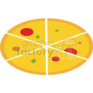 Pepperoni Cheese And Green Pepper Pizza clipart. Royalty-free image # 379213