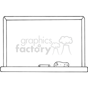 A Blank School Chalk Board clipart. Commercial use image # 379233
