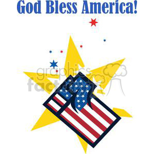 American Patriotic Fist Over Stars clipart. Royalty-free image # 379258