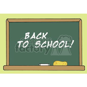 School Chalk Board With Back to School! clipart. Royalty-free image # 379288
