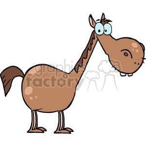 Cartoon Character Horse clipart. Royalty-free image # 379313