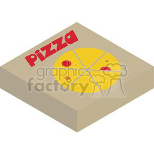 Pizza Box clipart. Royalty-free image # 379318