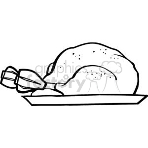 Cartoon Plate With Turkey clipart. Royalty-free image # 379323