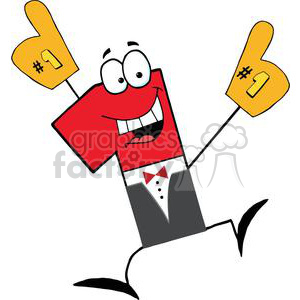 Number One Businessman Cartoon Character clipart. Royalty-free image # 379353