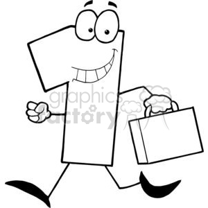 Business Number One Running With Suitcases clipart. Royalty-free image # 379393
