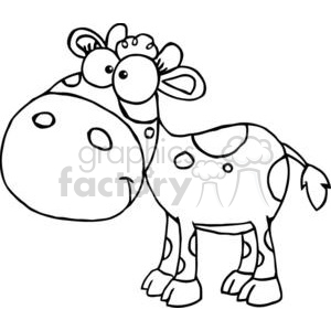 Cute Little White Cow clipart. Commercial use image # 379413