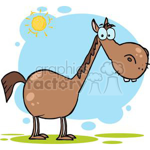 cartoon funny comical comic vector horse horses farm animal animals
