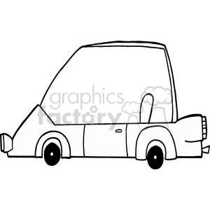 Cartoon Character Sports Car clipart. Royalty-free image # 379483
