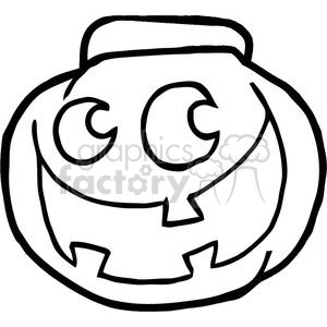 Cartoon Happy Halloween Pumkin clipart. Royalty-free image # 379503