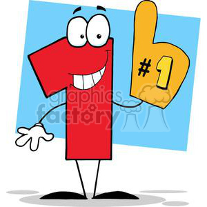 Number One Cartoon Character clipart. Royalty-free image # 379508