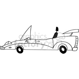 Cartoon Convertible Car clipart. Royalty-free image # 379553