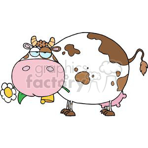 Cartoon Character Cow Different Color White clipart. Commercial use image # 379558