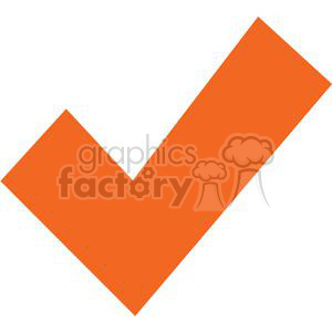 orange check mark clipart. Royalty-free image # 379609