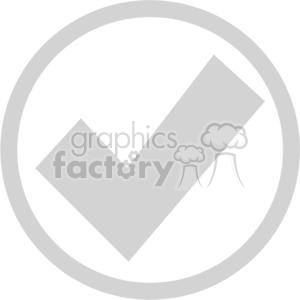 gray  circled check mark clipart. Royalty-free image # 379624