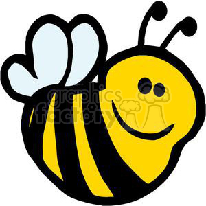 2625-Royalty-Free-Bee-Cartoon-Character clipart. Commercial use image # 379634