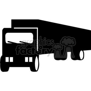 Semi Truck Silhouettes clipart. Commercial use image # 379669
