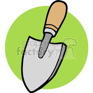 Small gardening shovel clipart. Commercial use image # 379674