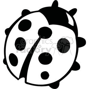 Black and white ladybug clipart. Commercial use image # 379694