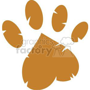 Brown paw print clipart. Commercial use image # 379719