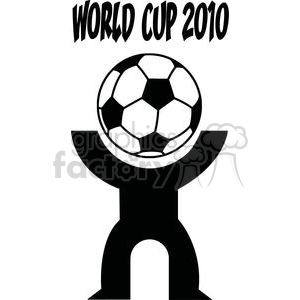 World cup 2010 with person with soccer ball head clipart. Royalty-free image # 379724