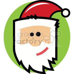 cartoon Santa Claus face clipart. Commercial use image # 379749