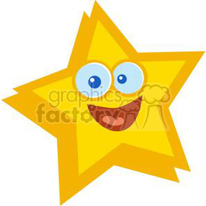 Smiling star clipart. Commercial use image # 379784