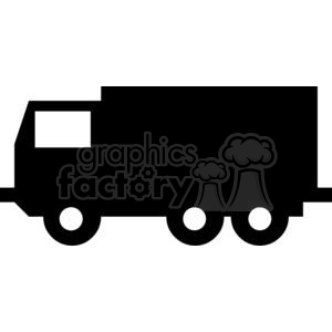 Uhaul box truck Silhouettes clipart. Commercial use image # 379794