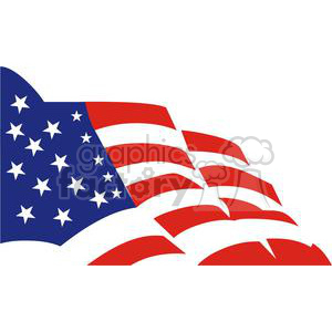 cartoon funny comical vector flag flags America usa united states