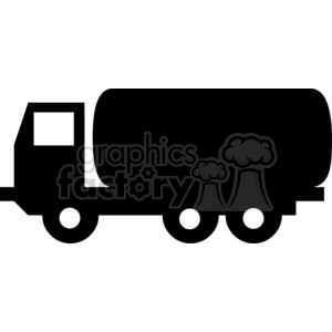 Black and white tanker truck clipart. Royalty-free image # 379854