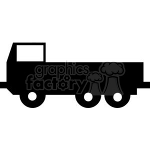 Truck Silhouettes clipart. Royalty-free image # 379869