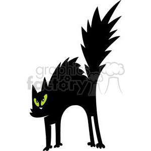 Scared Black Cat clipart. Royalty-free image # 379874