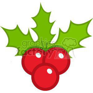 cartoon funny comical vector Christmas xmas Holidays berries holly