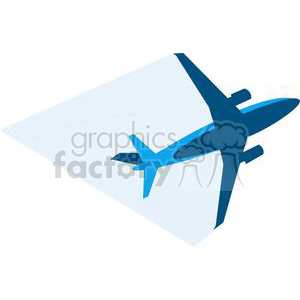 Blue Airplane clipart. Royalty-free image # 379899