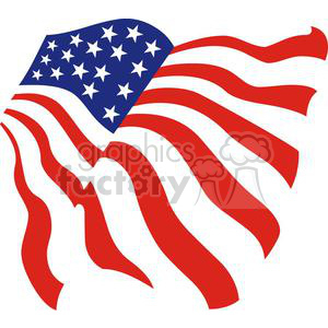 Flag of the United States clipart. Royalty-free image # 379909