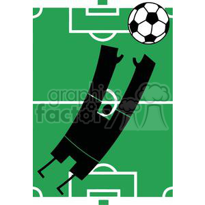 2520-Royalty-Free-Abstract-Silhouette-Soccer-Player-With-Balll-In-Front-Of-Stadium clipart. Commercial use image # 379919