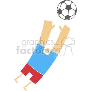 2511-Royalty-Free-Abstract-Soccer-Player-With-Balll clipart. Commercial use image # 379929