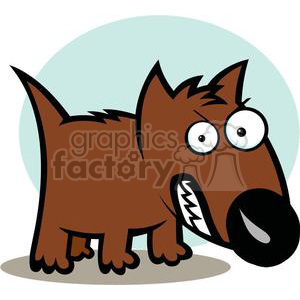 2582-Royalty-Free-Angry-Dog-Cartoon-Character animation. Royalty-free animation # 379939