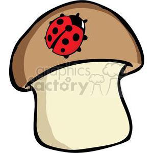 2638-Royalty-Free-Ladybug-On-Mushroom clipart. Commercial use image # 379949
