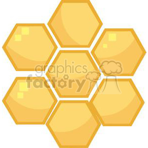 2690-Royalty-Free-Orange-Bee-Hives clipart. Royalty-free image # 379954