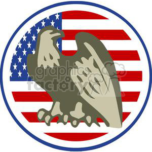 2383-Royalty-Free-American-Eagle-American-Head-With-USA-Flag clipart. Royalty-free image # 379959