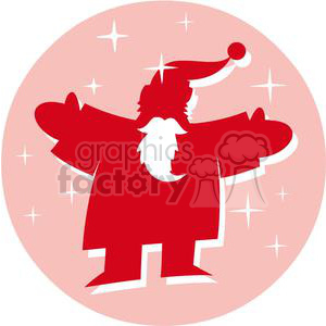 2353-Royalty-Free-Santa-Claus-In-Pink-Circle clipart. Royalty-free image # 379969
