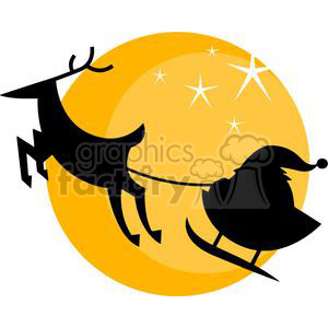 2358-Royalty-Free-Santas-Sleigh clipart. Commercial use image # 379974