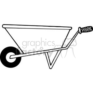 cartoon funny comical vector gardening garden tools landscaping wheelbarrow wheelbarrows