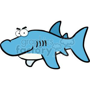 cartoon great-white shark clipart. Royalty-free image # 379994